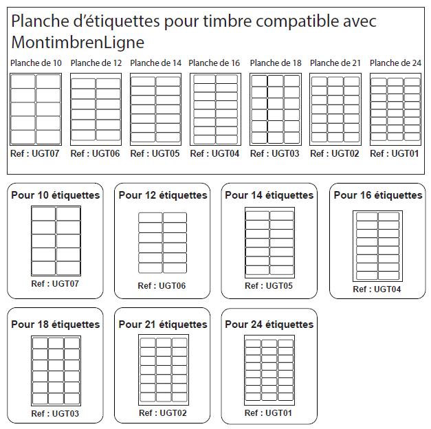 Planche 24 tiquettes pour timbre 63 5 x 33 9 mm montimbrenligne - Astuce pour enlever etiquette autocollante ...