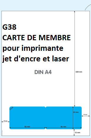 carte de membre vierge feuille avec carte de membre personnalisable jet d'encre et laser