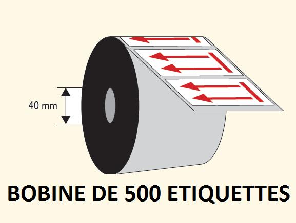 25 exemplaires étiquettes d/'expédition de placement avec fléche et haut imprimé