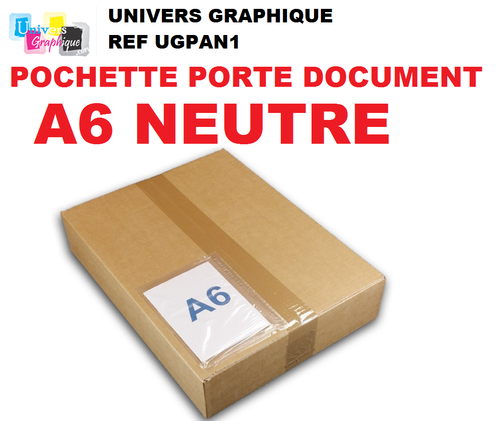 Pochette  porte-document A6 NEUTRE