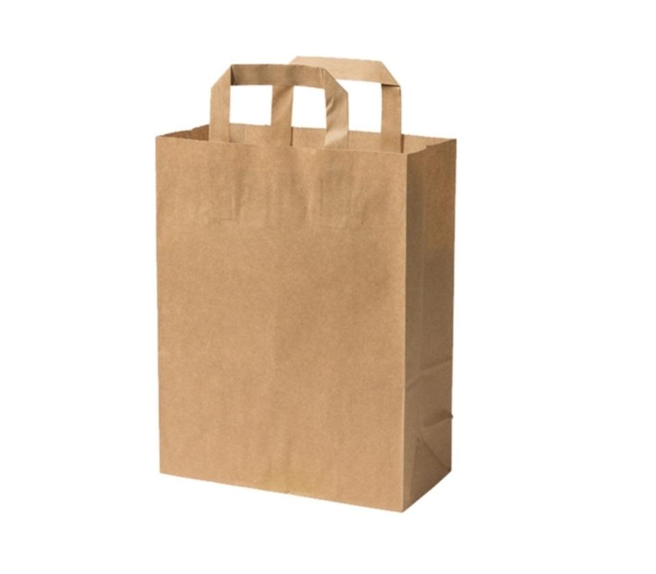 fa5dfdeca8 petit sac magasin papier marron avec poignée 6 litres 22X18X10