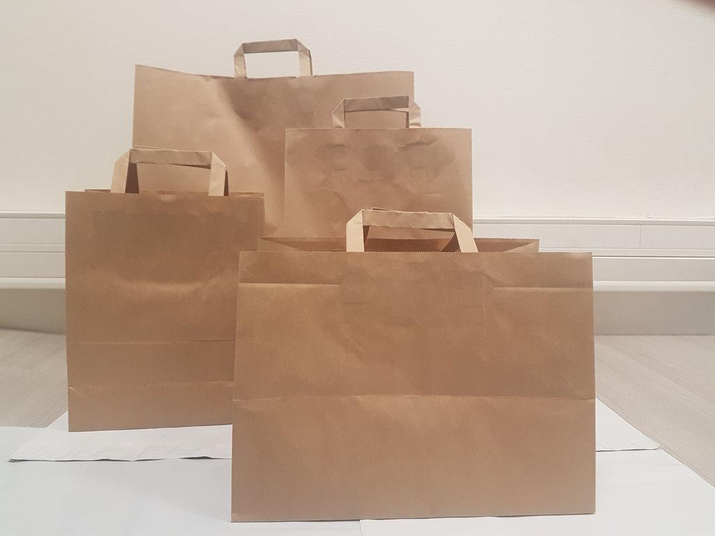 4c4940b3fa sac magasin papier 36 litre avec poignée marron commerce boutique