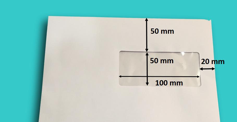 Enveloppe pochette a4 avec fen tre papier blanc 229 x 324 mm for Enveloppe c4 avec fenetre