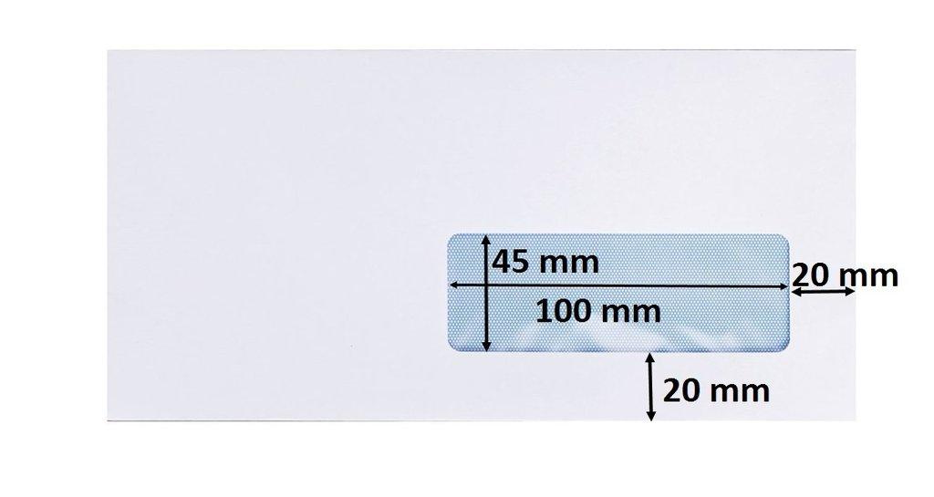 Enveloppe Dl Avec Fenêtre Blanche 110 X 220 Mm Bande Adhésive