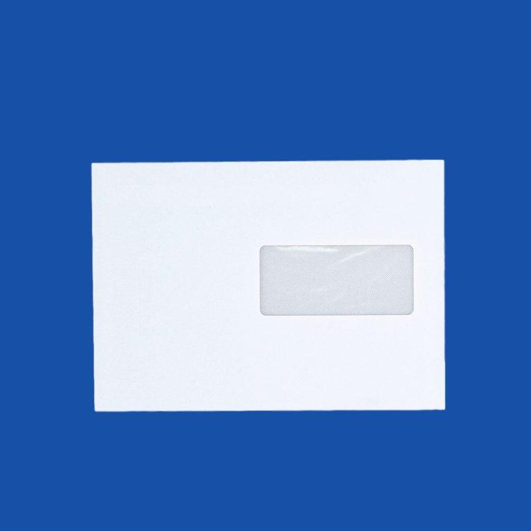 Enveloppe c5 a5 blanche avec fen tre 162 x 229 mm bande for Enveloppe c4 avec fenetre