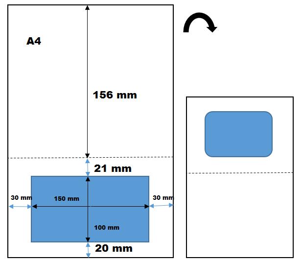 feuille a4 avec tiquette int gr e pour envoi par colis postal. Black Bedroom Furniture Sets. Home Design Ideas