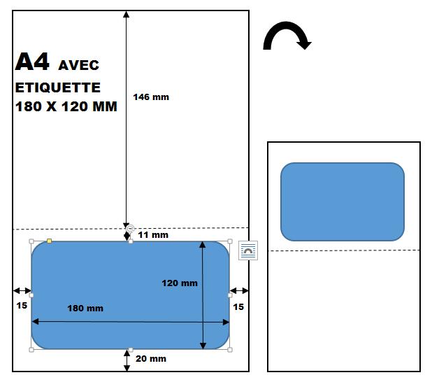 feuille avec tiquette colis postal pour envoi par colissimo. Black Bedroom Furniture Sets. Home Design Ideas