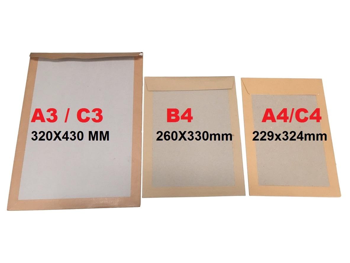 C5 a5 dur carte PIP board dos soutenu ne pas plier enveloppe Manilla brown C4 A4